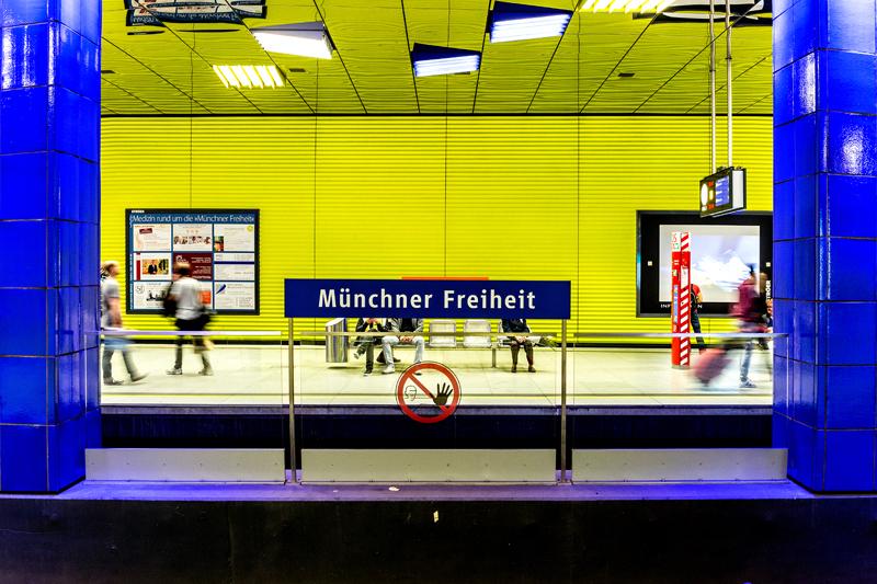 In der Münchner U-Bahn